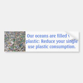 Plastic Pollution Bumper Sticker Car Bumper Sticker