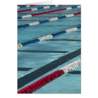 Plastic separators in a swimming pool creating card