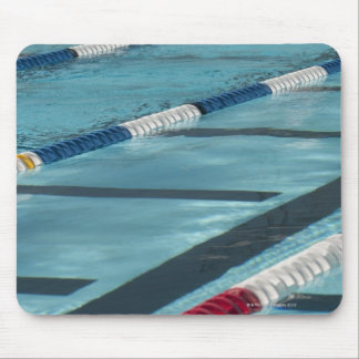 Plastic separators in a swimming pool creating mouse mat