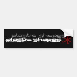 Plastic Shapes Bumper Sticker