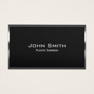 Plastic Surgeon Professional Carbon Fiber Elegant Business Card
