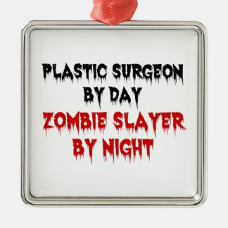 Plastic Surgeon Zombie Slayer Christmas Ornament
