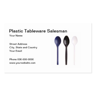 Plastic Tableware Salesman Business Card