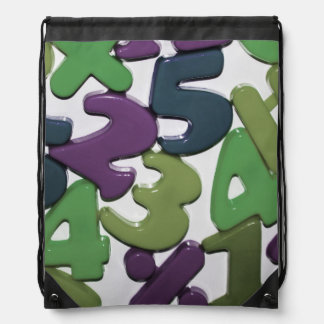 Plastic Toy Numbers Drawstring Backpack