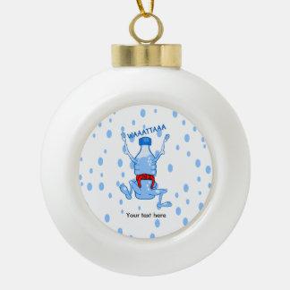 Plastic Water Bottle Martial Arts Ceramic Ball Christmas Ornament