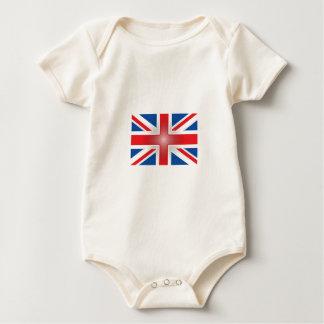 Plastic Wrap Union Jack Baby Bodysuit