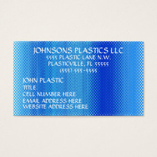 Plastics Company Business Card