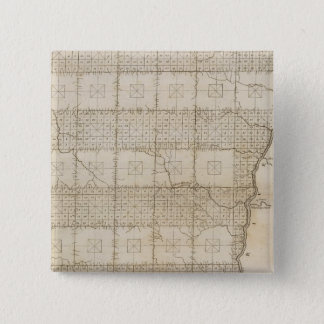 Plat of The Seven Ranges of Townships 15 Cm Square Badge