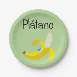 Platano (Banana) Paper Plate