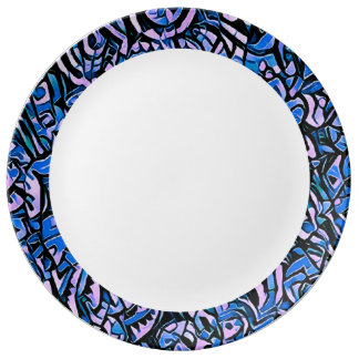 Plate astral water 2 porcelain plate