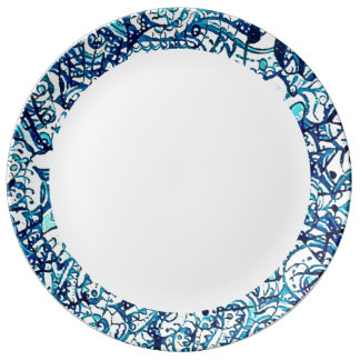 Plate astral water porcelain plates