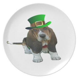 Plate Basset Hound St Patricks
