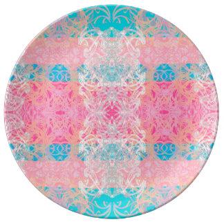 plate blue sky porcelain plate