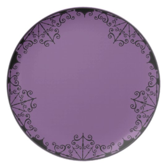 Plate -Burtonesque Victorian Gothic Style #1Purple