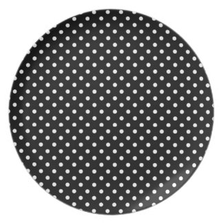 plate, coordinate dots for GOLD PANSY- black /whit Plate