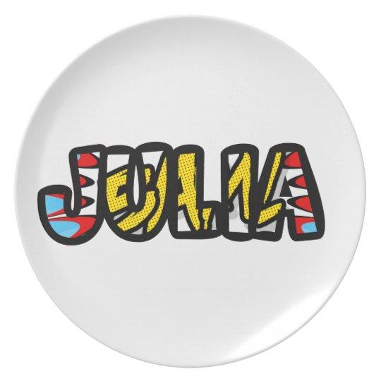 Plate customized melanin Julia