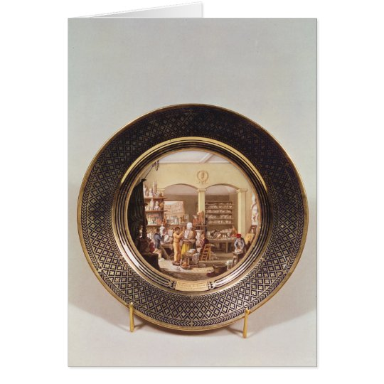 Plate depicting the Sevres workshop Card
