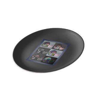 Plate Escargot Porcelain Plates