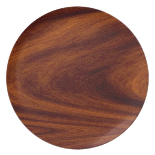 Plate - Faux Wood