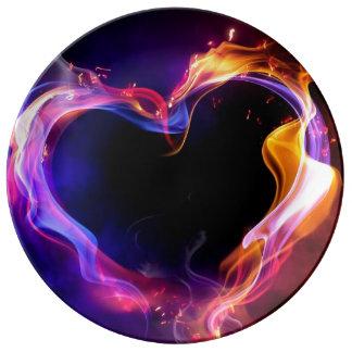 Plate - Fire heart Art