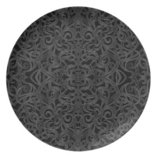 Plate Floral abstract background