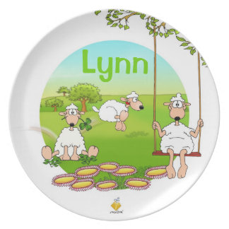 "plate for kids with name ""SHEEP """