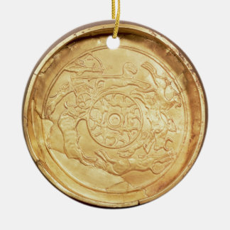 Plate (gold) christmas ornament