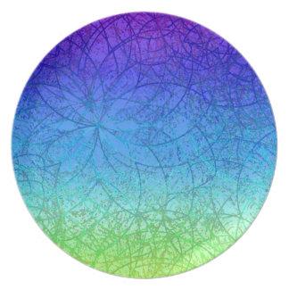 Plate Grunge Art Abstract
