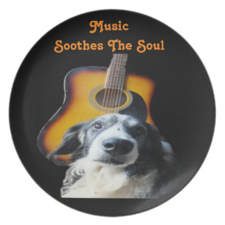 Plate Guitar Dog