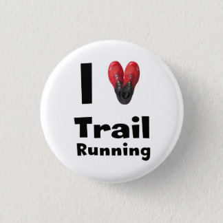 "Plate ""I love Trail Running "" 3 Cm Round Badge"