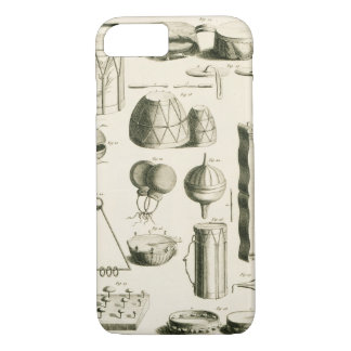 Plate II: Ancient and modern percussion instrument iPhone 8/7 Case