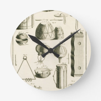 Plate II: Ancient and modern percussion instrument Round Clock