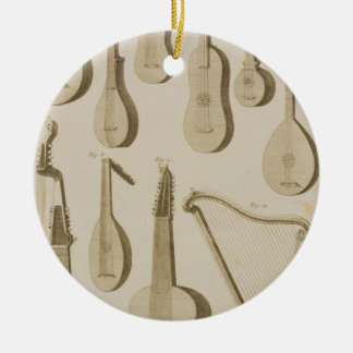Plate III: Ancient and modern stringed and plucked Christmas Ornament