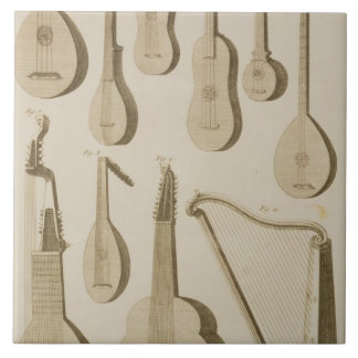 Plate III: Ancient and modern stringed and plucked Tile