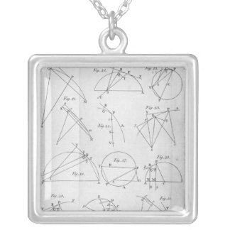 Plate IV, Illustrating Proposition X Silver Plated Necklace