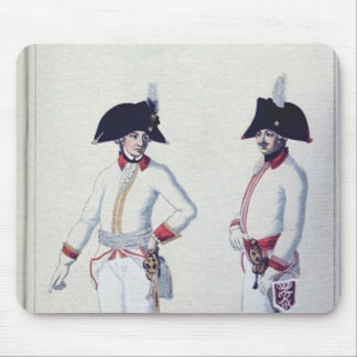 Plate of a soldier in red, yellow & white mouse mat
