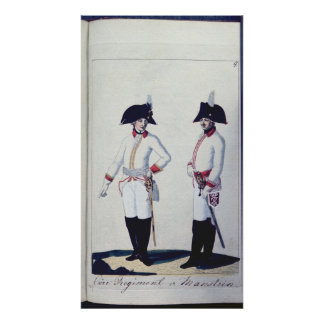 Plate of a soldier in red, yellow & white poster