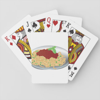 Plate Of Spaghetti Playing Cards