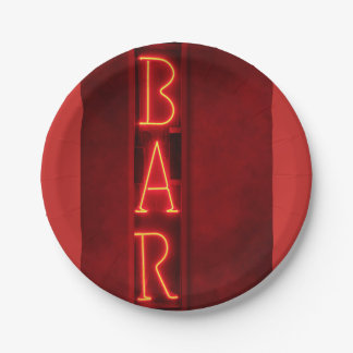 Plate out of paperboard for red festivity Bar
