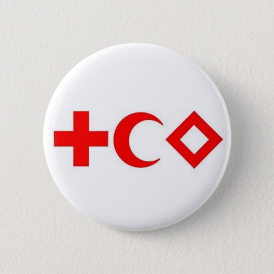 Plate pin the Red Cross, Red Average Moon, Red Cry