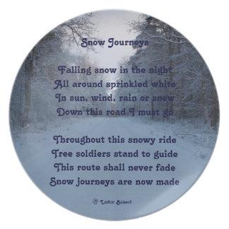 Plate Poem Snow Journeys By Ladee Basset