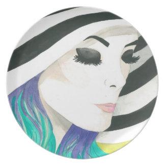 "Plate ""Porcelain"" Crystal Cross Watercolors"
