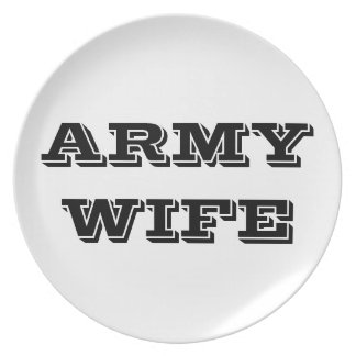 Plate Proud Army Wife