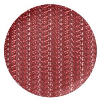 Plate Red Dark Glitter