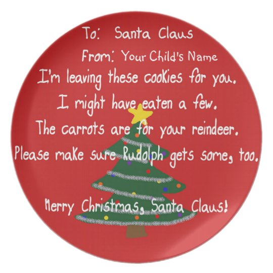 Plate - Santa's Cookies - Carrots for the Reindeer