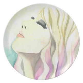 "Plate ""Thankful"" Crystal Cross Watercolors"