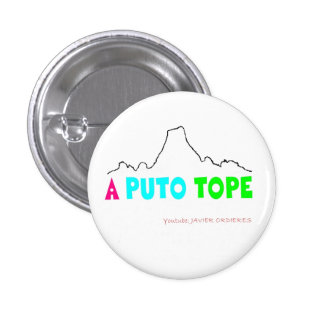 """Plate """"To P *** Top """" 3 Cm Round Badge"""