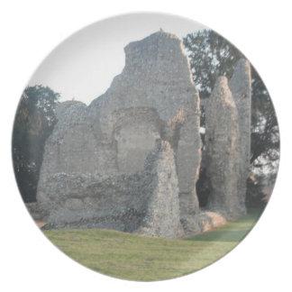 Plate Weeting Castle Weeting Norfolk England