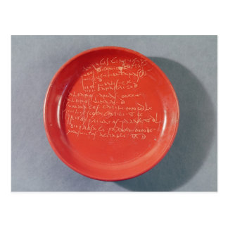 Plate with Celtic text, 1st-2nd century Postcard