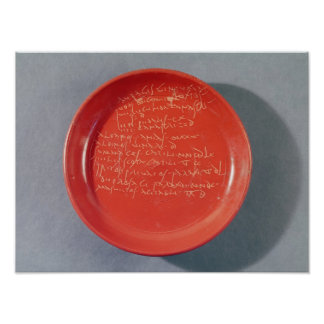 Plate with Celtic text, 1st-2nd century Poster